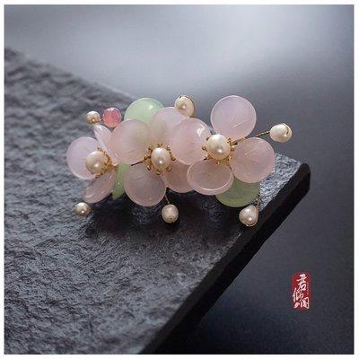 [免運]古色古香中國風❈現貨❈仿武媚娘范冰冰款古風琉璃花髮夾---限量版