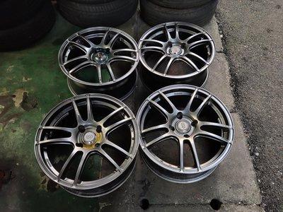 拆TOYOTA PREVIA 原廠鋁圈7JX16-7-8成新一個2200普利司通輪胎215/60/16 八成新1200
