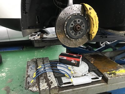 JK Racing 煞車金屬油管 Porsche MACAN S 專用 原廠六活塞卡鉗專用 一組四條