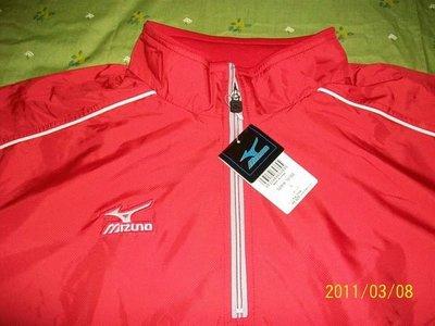 日本販售~全新~美津濃短袖風衣一件~紅色~非實戰球、中華隊、兄弟象、經典賽 高雄市