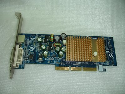 技嘉GV-N62256DP2-RH 256MB GeForce 6200 DVI 4X/8X AGP顯示卡
