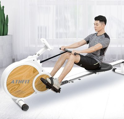 TIG-新型靜音划船機/划船機/飛輪/重力訓練/磁控機/健身車/腳踏車/訓練台/踏步機/康復/運動/訓練/肌力訓練