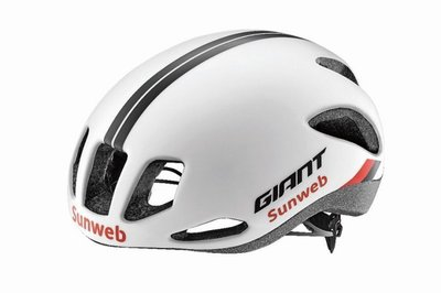 全新 公司貨 2017新品 捷安特 GIANT RIVET SUNWEB 車隊版空氣力學公路車安全帽 消光白
