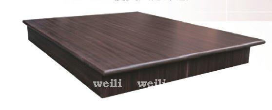 J【新北蘆洲~偉利傢俱】特級5尺六分木心板圓線條雙人床底-編號(J57)