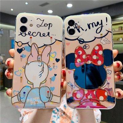 【iphone12手機殼】卡通造型手機保護套 迪士尼 米妮 黛西卡通造型 軟殼 防摔 保護 蘋果手機殼