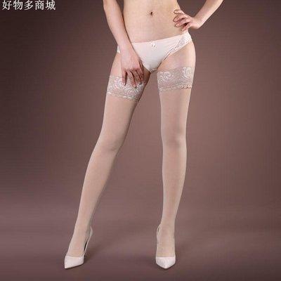 精選 高品質天鵝絨硅膠防滑蕾絲長筒襪80D春秋微透肉性感女絲襪