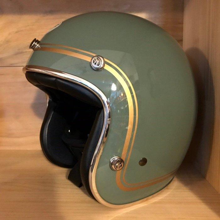 (I LOVE 樂多) 最新二代 Chief Helmet Ticuna系列 3/4 安全帽 (褐綠)