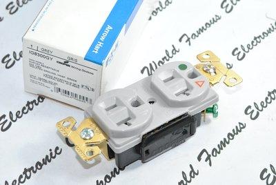 [特價中]美國COOPER IG8300GY 125V 20A 灰色 獨立接地 醫療級插座 送93101白鐵蓋板