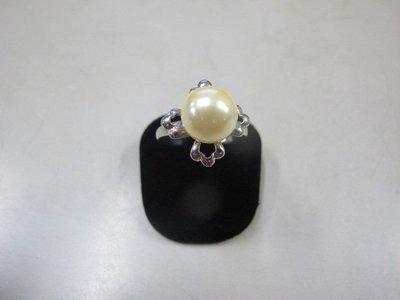二手舖 NO.3995 珍珠 造型戒指 首飾飾品 全新