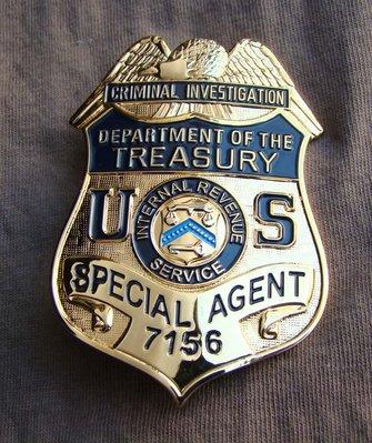 美國金屬徽章  美國國稅局金屬大徽章 純銅質