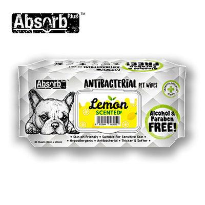 SNOW的家【訂購】Absorb Plus 寵物用抗菌濕紙巾 6種香味-檸檬香 (11090040