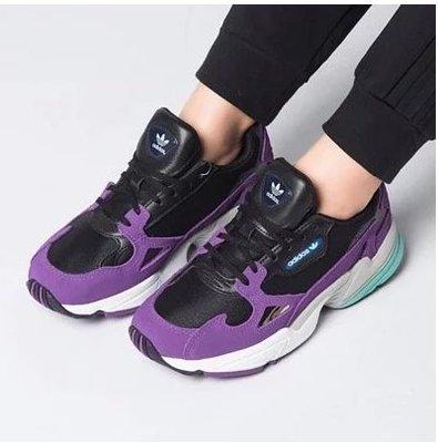 快閃四折FOCA  Adidas Originals Falcon cg6216 老爹鞋 愛迪達 黑紫  老人鞋 女鞋