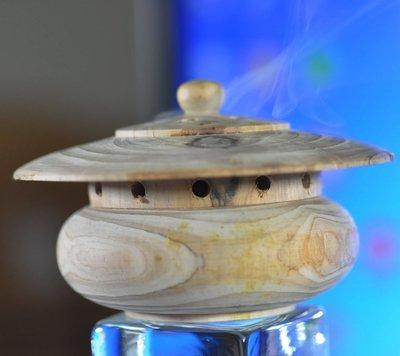 宋家苦茶油shawnanhanLo.2-12號.台灣肖楠木所製香爐.天壇型.主要是點香粉.香塔為主