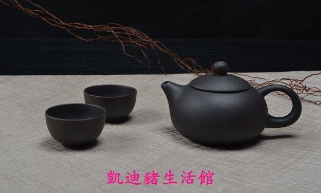【凱迪豬生活館】宜興紫砂茶壺 一壺二杯 功夫茶具茶道 泡茶用具西施壺紫砂茶具3件組KTZ-200969