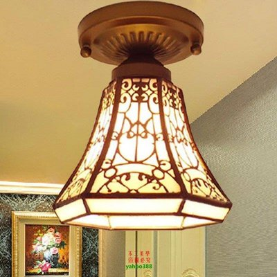 【美學】鐵藝燈簡約過道燈小燈燈門廳燈陽檯燈小吸頂燈玄關燈具MX_92