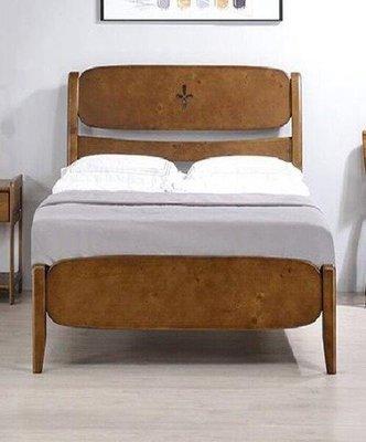 【風禾家具】FNC-24-1@胡桃色單人3.5尺床台【台中6100送到家】兒童床架 單人床 北歐風 松木實木 傢俱