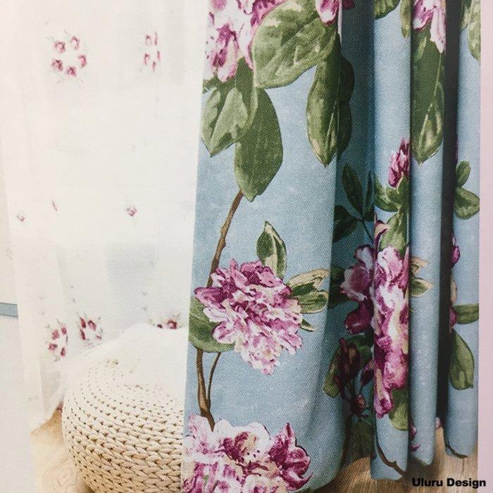 【Uluru】北歐風格窗簾 Flower 繽紛花朵 花 訂製窗簾 捲簾 羅馬簾 波浪簾 S簾 蛇型簾