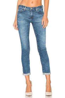 ◎美國代買◎AG stilt roll up復古波紋刷色反摺褲口七分合身牛仔褲