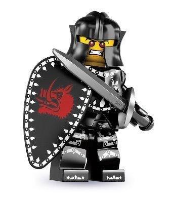 絕版品【LEGO 樂高】玩具 積木/ Minifigures人偶包系列: 7代 8831   邪惡戰士+劍+盾牌