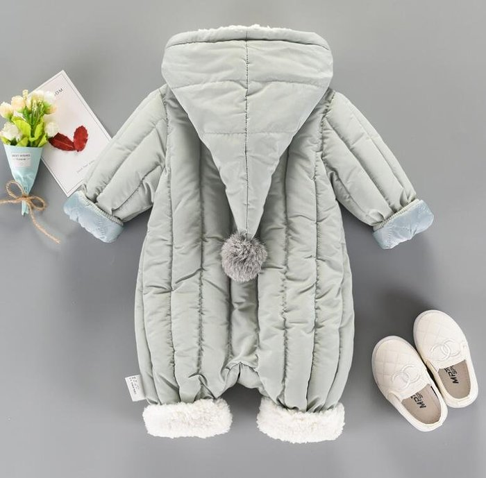 抱被 睡衣 男女寶寶0一1歲嬰兒衣服 潮加厚連體衣 保暖外出抱衣 彌月禮物—莎芭