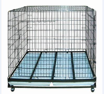 台灣制 3尺半 折合式靜電烤漆籠 大型狼犬籠 狗籠(附輪)DK-0618(雙門)3.5X2尺,每件4, 000元 新竹市