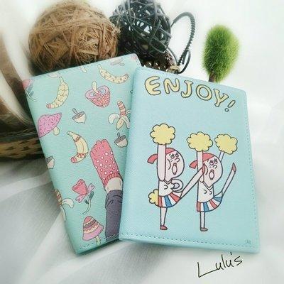 *可愛護照套*  韓國卡通插畫風 PU皮護照夾護照套 ︵❉2款。Let's Go lulu's。BC14