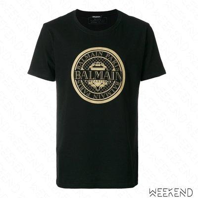 【WEEKEND】 BALMAIN Logo 印圖 短袖 T恤 上衣 黑色 18春夏新款