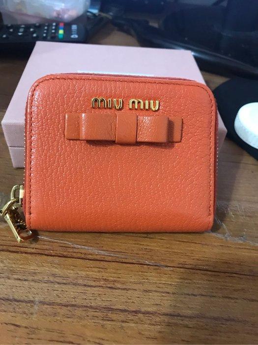 Mini Miu 零錢包 橘色
