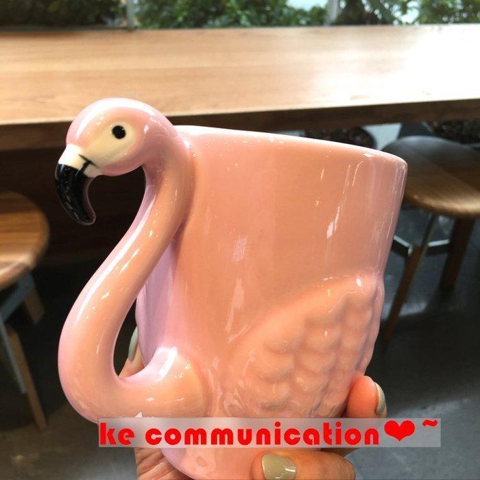搞創意 3D立體 粉紅夢幻少女心 火烈鳥馬克杯 立體3D陶瓷杯 姐妹杯 閨密 交換禮物 水杯 咖啡杯 拍攝道具