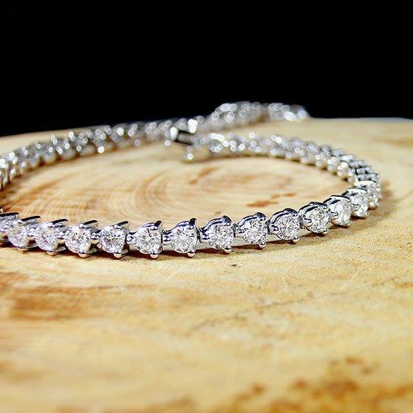【LOVES鑽石批發】天然鑽石手鍊-經典3分三爪鑲-2.07克拉18K金-另有鉑金/白金 另售GIA鑽石 LOVES DIAMOND