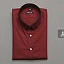 SIMPLE IMAGE酒紅色紳士襯衫a701