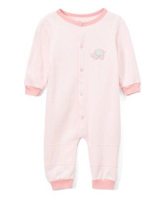 美國童裝品牌Zulily Spencer's Pink Elephant Playsuit 粉色大象長袖兔裝18-24M