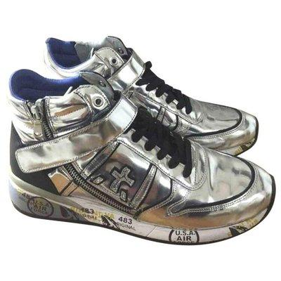 義大利 PREMIATA RIEN NE VA PLUS ORIGINAL 483 女生 全真皮 時尚 休閒鞋 亮銀色
