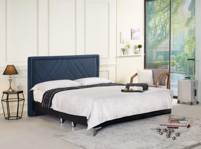 【DH】商品編號G669-3商品名稱爾查6尺雙人床/深藍布(圖一)床片+床底。可拆賣。備有五尺可選。主要地區免運費