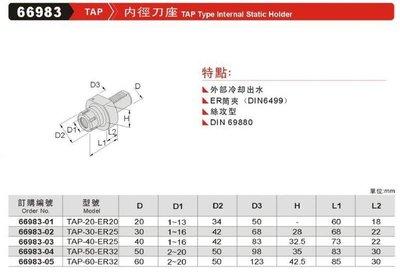 內徑刀座 TAP 66983