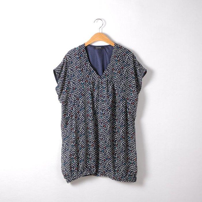 ☆UeF☆日本正品組曲波點超寬鬆雪紡長衫(新)