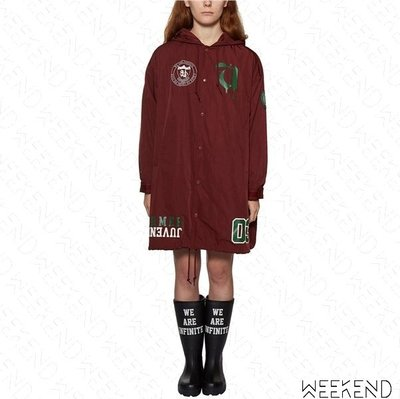 【WEEKEND】 UNDERCOVER Former Juvenile 印圖 連帽 防風 外套 派克大衣 酒紅色