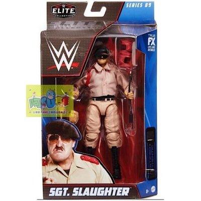 ☆阿Su倉庫☆WWE摔角 Sgt. Slaughter Elite 89 Figure 傳奇巨星最新精華版人偶附偶衣配件