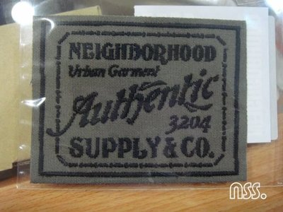 【NSS】NEIGHBORHOOD NBHD SUPPLY&CO C PATCH 綠 貼布
