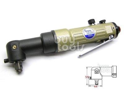 台灣工具-Air Impact Wrench《專業級》強力型四分90度氣動板手-1/2、超短前軸/雙鎚式大扭力「含稅」