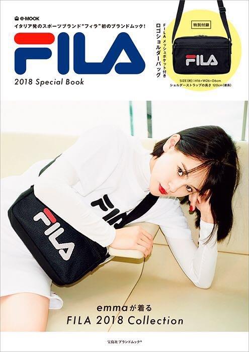 │遇見。小舖│B80705日本雜誌附錄 FILA 斜背包 單肩包 側背包 斜跨包 運動包 男女可背