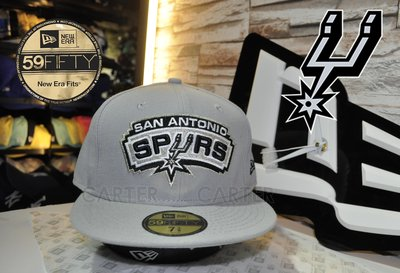 New Era NBA SA Spurs Grety 59fifty fitted 聖安東尼奧馬刺隊灰色全封尺寸帽