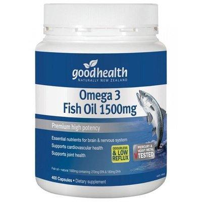 紐西蘭 Good Health 深海魚油 1500mg 400顆 大罐裝 好健康 Omega 3 Fish Oil 正品