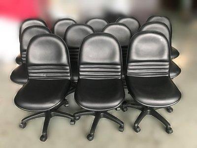 【宏品二手家具館】 全新中古傢俱拍賣 C0804*黑皮OA辦公椅*電腦椅 餐椅 吧檯椅 新竹苗栗彰化 餐桌椅南投