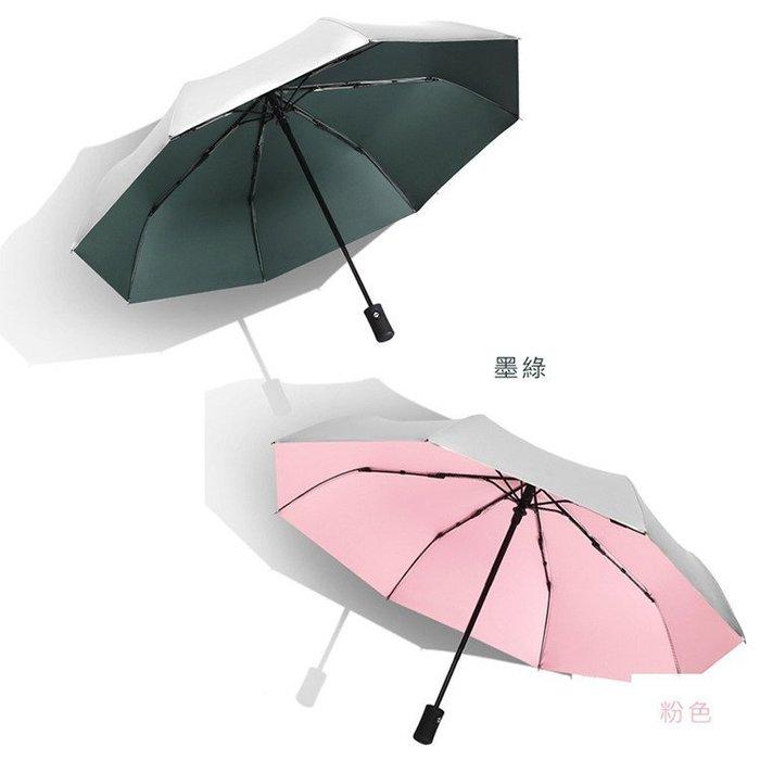 秒出特價【 鈦銀傘面】三折傘 自動傘 輕量傘 傘下降溫 折疊傘 雨傘 摺疊傘 晴雨傘 自動雨傘 有效隔離紫外線