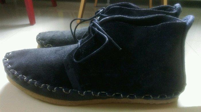 [現貨 真品] 英國 Folk clothing 麂皮 皮靴 Saul 黑藍 盒 paul smith 鞋 12800元