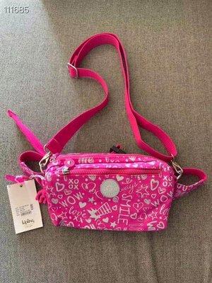 米莉亞代購 Kipling 粉色愛心 k15187 胸包 斜背包 腰包 預購