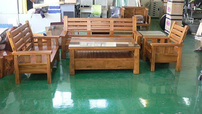 樂居二手家具 台中二手傢俱賣場TK4001*豪邁掀蓋全新日式柚木組椅*木頭沙發含茶几矮桌/客廳桌椅拍賣電視櫃 酒櫃 書櫃