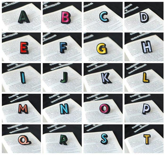 【里樂@ LeaThER】個性化字母數字布貼 熨斗貼 燙布貼 DIY 巧