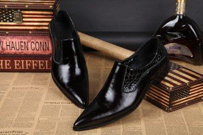 個性時裝男皮鞋 英倫 個性男士正裝皮鞋春秋韓版日常休閑男鞋商務尖頭發型師潮鞋